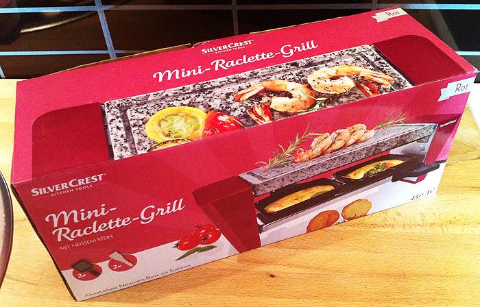 SilverCrest Mini-Raclette-Grill mit heißem Stein