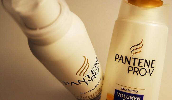 Pantene Pro-V in-Dusch Volumen Pur Schaum-Pflegespülung und Shampoo