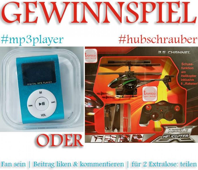 MP3-Player oder Hubschrauber zu gewinnen