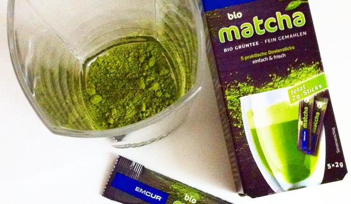 Emcur Matcha Grüner Tee Sticks Produkttest