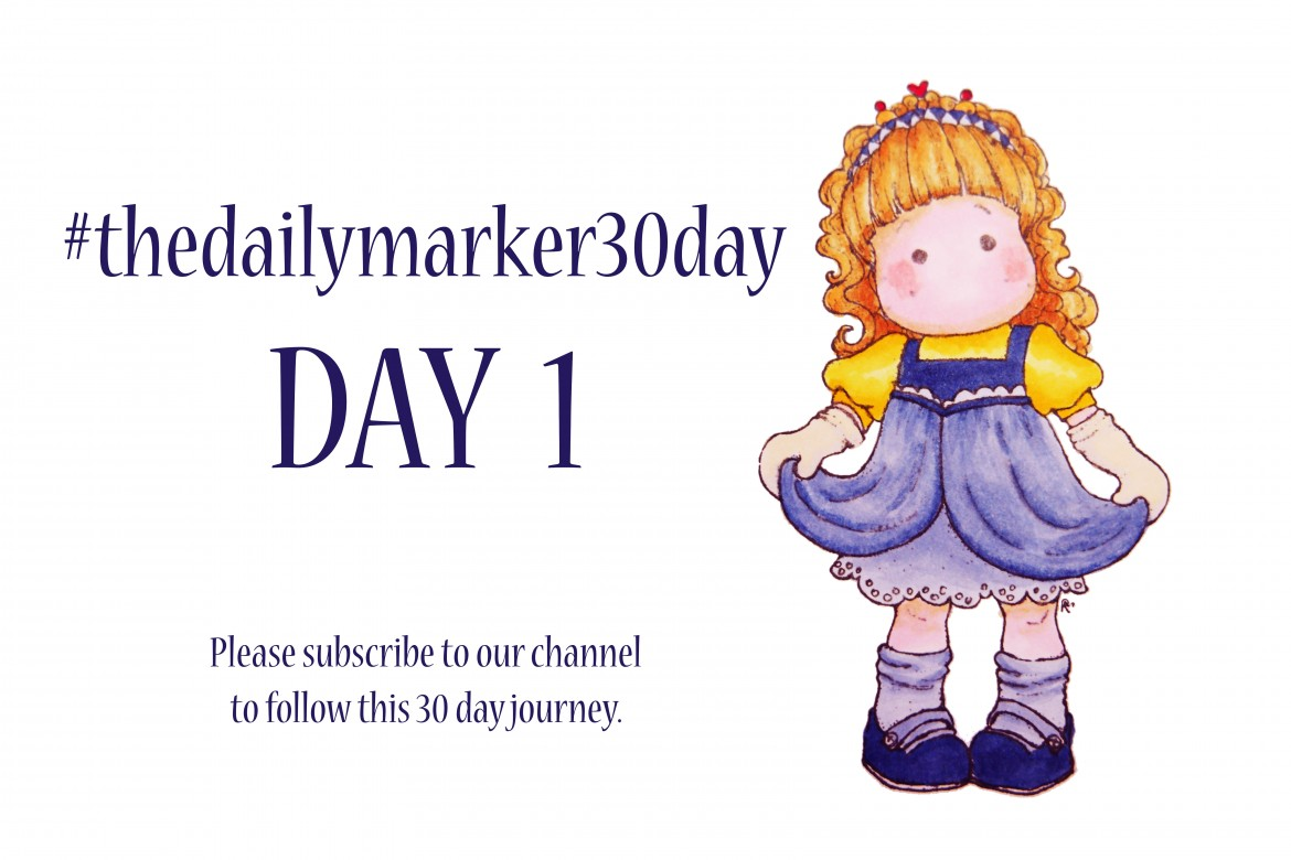 #TheDailyMarker30Day – TAG 1 – Copic Paint Challenge